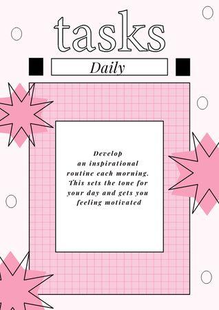 Daily Tasks Planning Schedule Planner – шаблон для дизайна