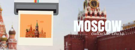 Modèle de visuel Moscow famous travelling spots - Facebook Video cover