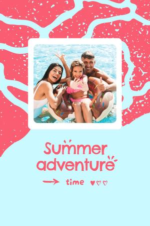 Summer Inspiration with Happy Family in Sea Pinterest – шаблон для дизайна