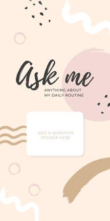 Designvorlage Daily Routine question form in pink für Graphic