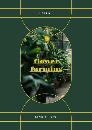 Modèle de visuel Flowers and Plants in Greenhouse - Poster
