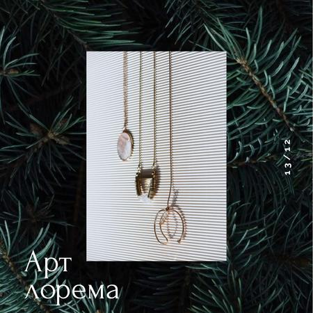 Accessories Offer with Pendants and Necklaces Animated Post – шаблон для дизайна