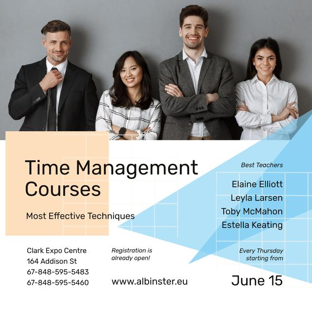 Business Courses Ad Successful Business Team Instagram Design Template