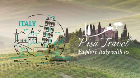 Ontwerpsjabloon van Full HD video van Tour Invitation Italy Famous Travelling Spots