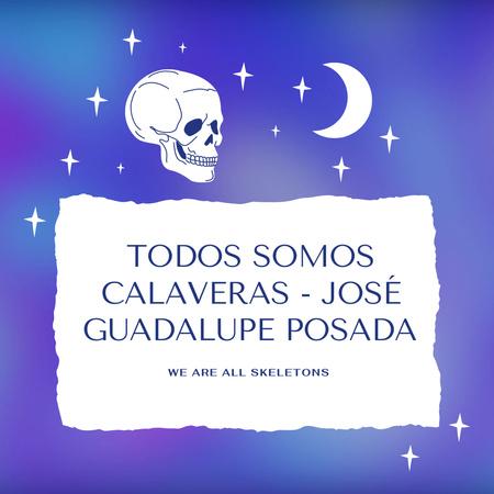 Dia de los Muertos Holiday with Skull and Moon Animated Post – шаблон для дизайна