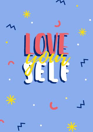 Plantilla de diseño de Self Love quote Poster