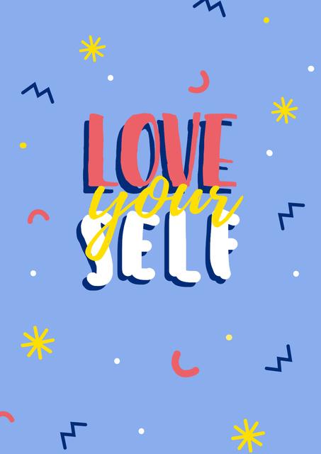 Self Love quote Poster Modelo de Design