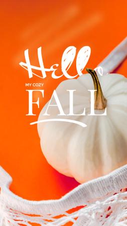 Bright Autumn Inspiration with Decorative Pumpkin Instagram Story – шаблон для дизайна