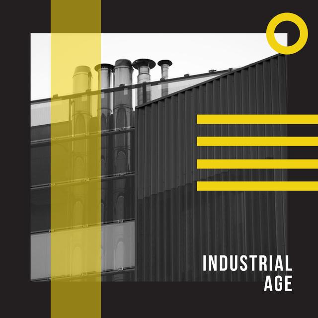 Large industrial containers Instagram – шаблон для дизайну