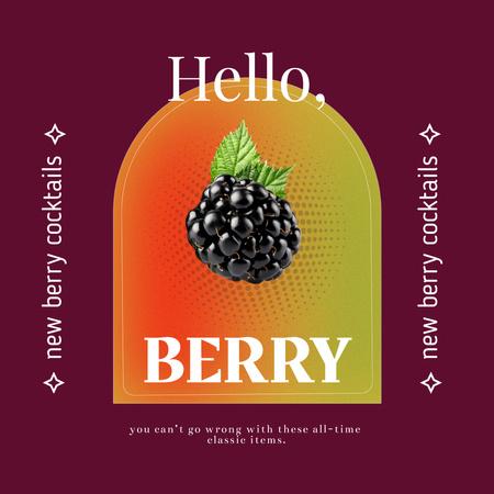 Modèle de visuel Berry Cocktails Ad with Mulberry - Instagram