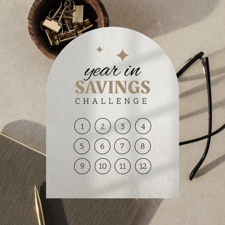 Designvorlage Saving Challenge Tracker für Instagram