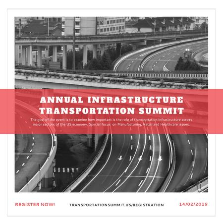 Annual infrastructure transportation summit Instagram ADデザインテンプレート