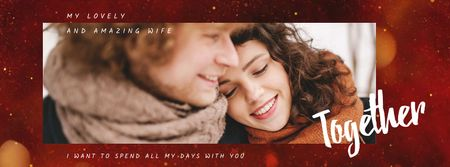 Happy romantic Couple on Valentine's Day Facebook Video cover Modelo de Design