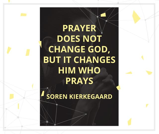 Religion Quote with Woman Praying Facebook – шаблон для дизайну