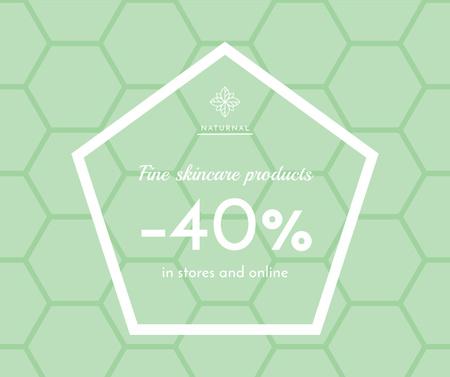 Skincare products sale ad on geometric texture Facebook – шаблон для дизайну