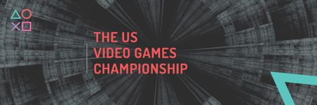 Video games Championship Email header – шаблон для дизайну
