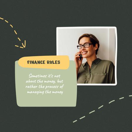 Modèle de visuel Finance rules with Confident Woman - Animated Post