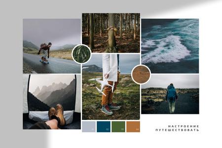 Trip to Nordic countries Mood Board – шаблон для дизайна