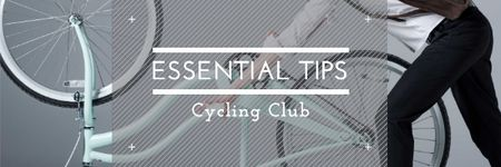 Plantilla de diseño de Cycling club tips Email header