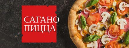 Italian Pizza menu promotion Facebook cover – шаблон для дизайна