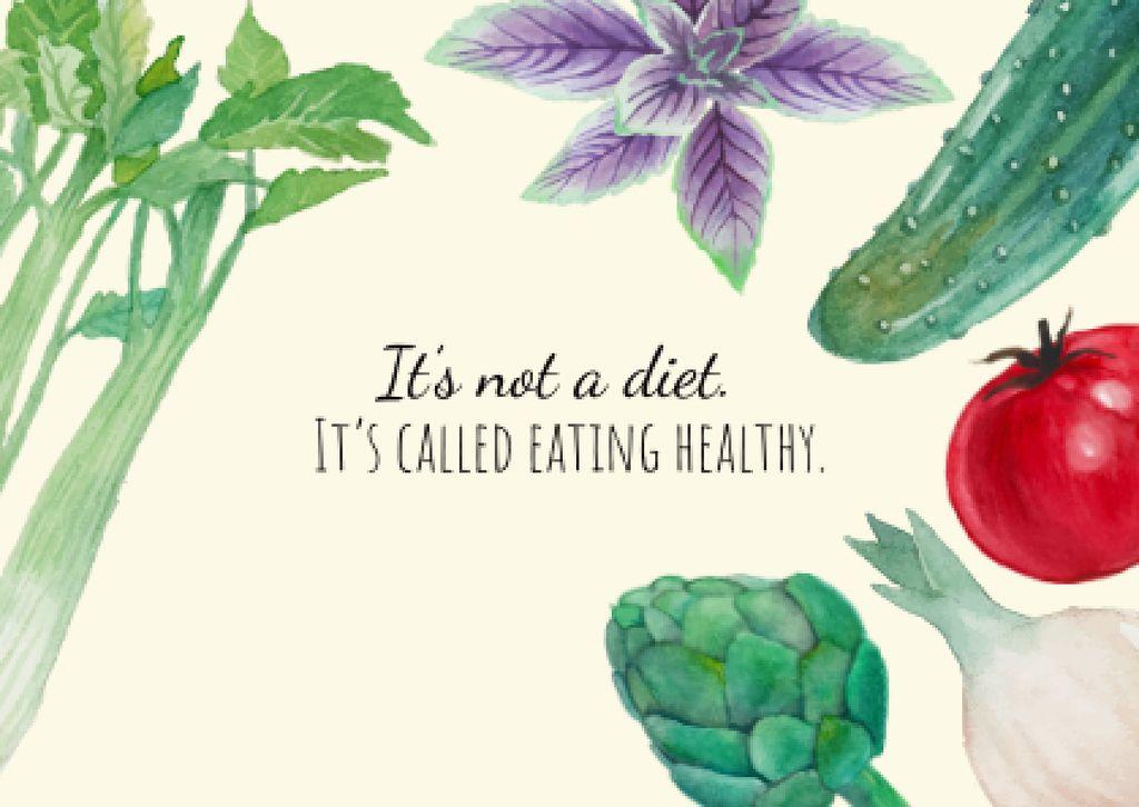 Healthy eating illustration — Modelo de projeto