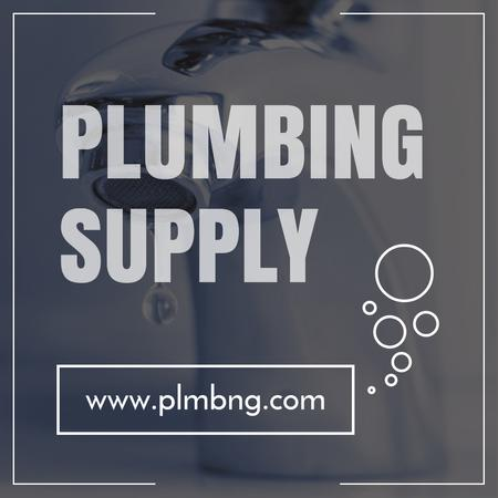 Ontwerpsjabloon van Instagram van Plumbing Services Ad with Leaking Tap