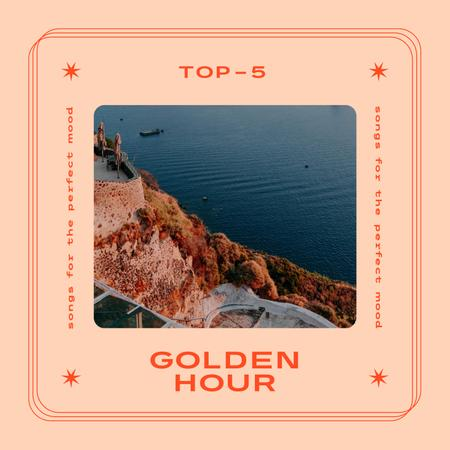 Travel Offer with Scenic Coastline Album Coverデザインテンプレート