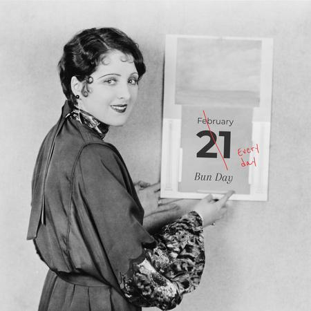 Funny Bakery Promotion with Woman holding Calendar Instagram – шаблон для дизайну