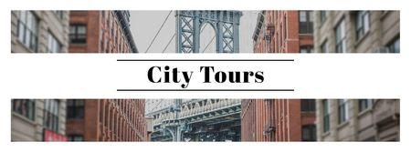 Modèle de visuel New York city bridge - Facebook cover