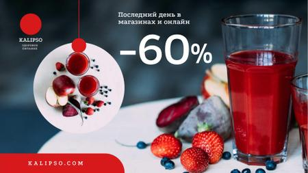 Healthy Nutrition Offer with Glass of Juice Full HD video – шаблон для дизайна