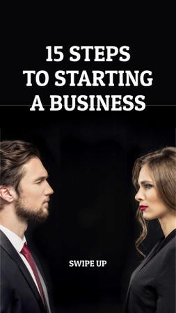 Businessman and Businesswoman for educational event Instagram Story Modelo de Design