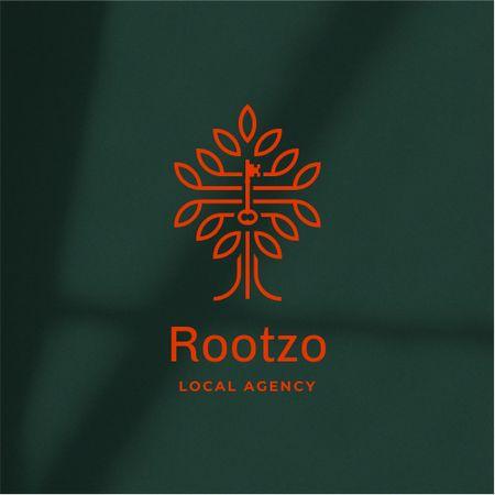 Agency Services Ad with Creative Tree Illustration Logo – шаблон для дизайну