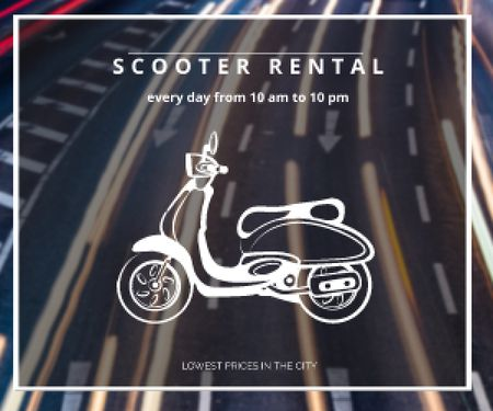 Scooter rental advertisement Medium Rectangle – шаблон для дизайну
