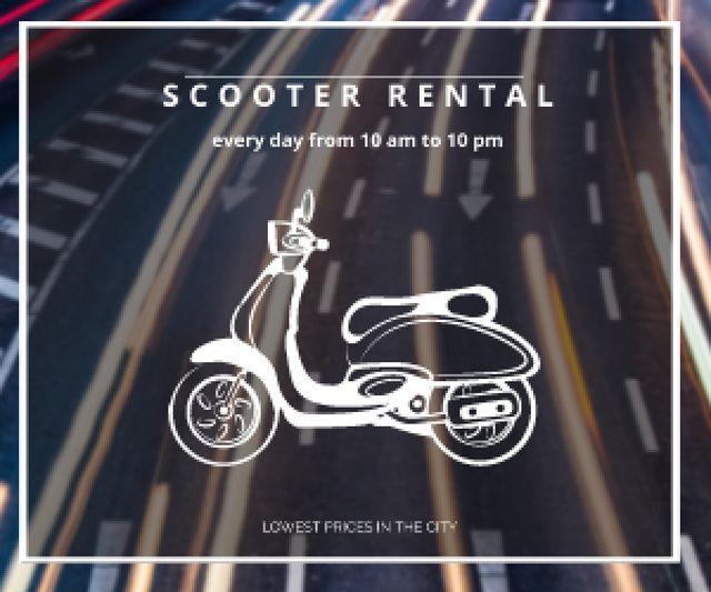 Plantilla de diseño de Scooter rental advertisement Medium Rectangle