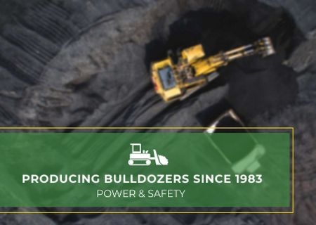 Template di design Bulldozers production Ad Card
