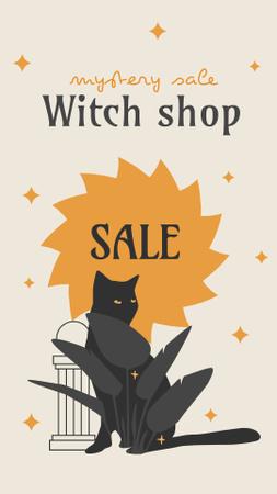 Designvorlage Witch Shop Sale on Halloween für Instagram Story
