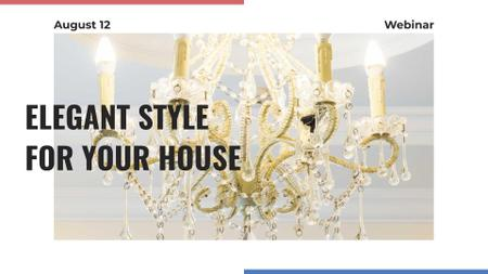 Elegant crystal Chandelier offer FB event coverデザインテンプレート