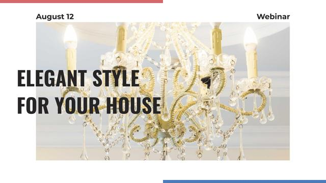 Ontwerpsjabloon van FB event cover van Elegant crystal Chandelier offer