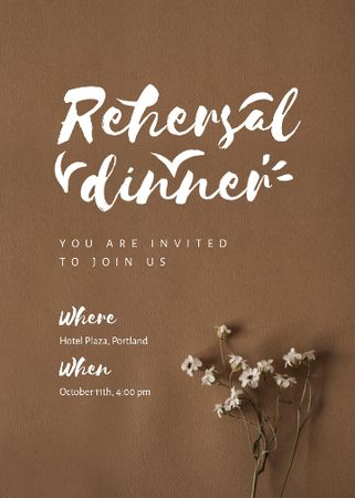 Template di design Rehearsal Dinner Announcement with Tender Flowers Invitation