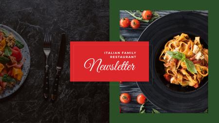 Delicious Italian pasta Youtube Tasarım Şablonu