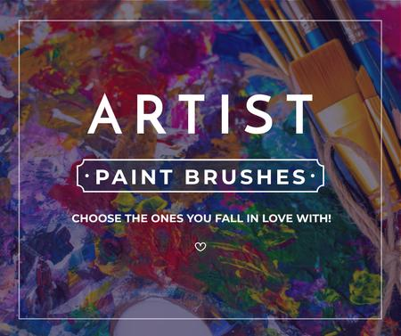 Drawing Materials Ad Oil Paint Background Facebook – шаблон для дизайну