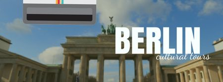 Designvorlage Berlin famous travelling spot für Facebook Video cover