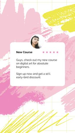 Designvorlage Digital Courses with young girl für Instagram Story