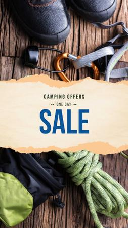 Camping Equipment Sale Offer Instagram Story Modelo de Design