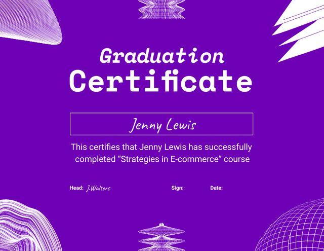 Business Course Completion Award Certificate – шаблон для дизайну