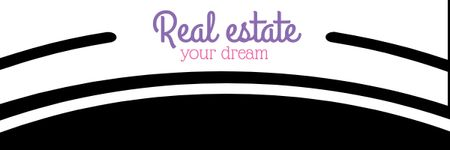 Ontwerpsjabloon van Email header van Real Estate Ad with Modern Buildings