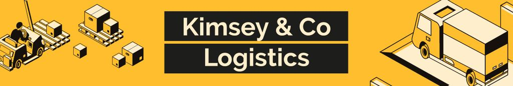 Logistics Company ad with Trucks and Warehouse — Crear un diseño