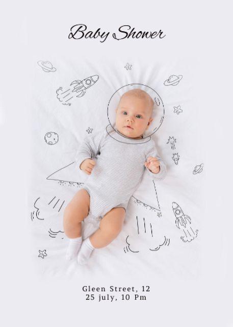 baby Invitationデザインテンプレート