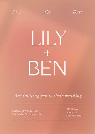 Template di design Wedding Day Announcement on Pink Invitation
