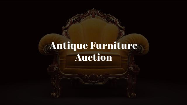 Antique Furniture Auction with Luxury Yellow Armchair Youtube – шаблон для дизайну